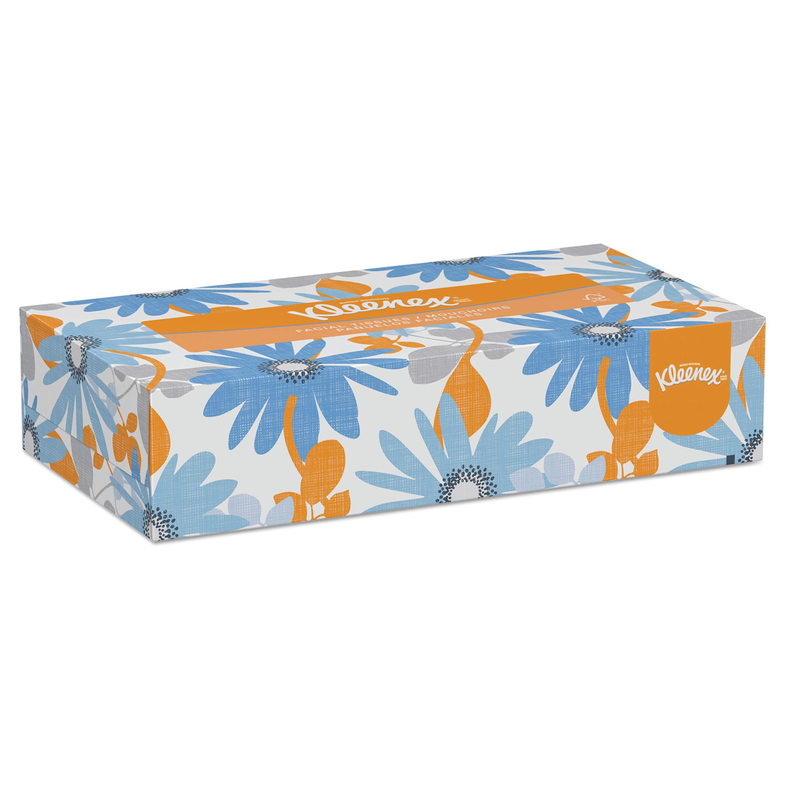 Kleenex 21400 White Facial Tissue, 2-Ply, Pop-Up Box, 100 per Box (Case of 36 Boxes)