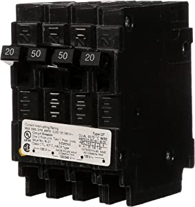 SIEMENS Q22050CT 50 Double Two 20-Amp Single Pole Circuit Breaker, COLOR
