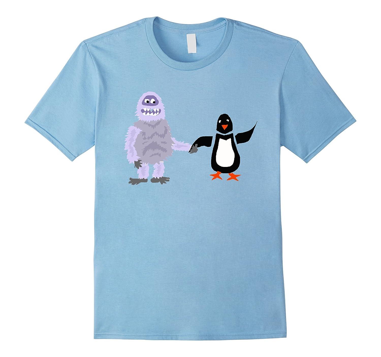 Smiletodaytees Abominable Snowman and Penguin T-shirt-RT