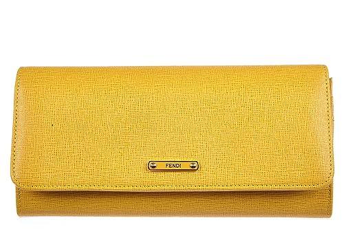 Fendi monedero cartera bifold de mujer en piel nuevo elite amarillo: Amazon.es: Zapatos y complementos