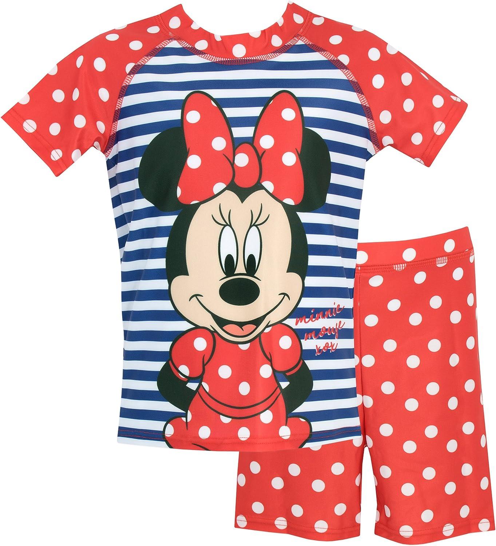 Minnie Mouse Disney Minnie Mouse Ba/ñador de Dos Piezas para ni/ña