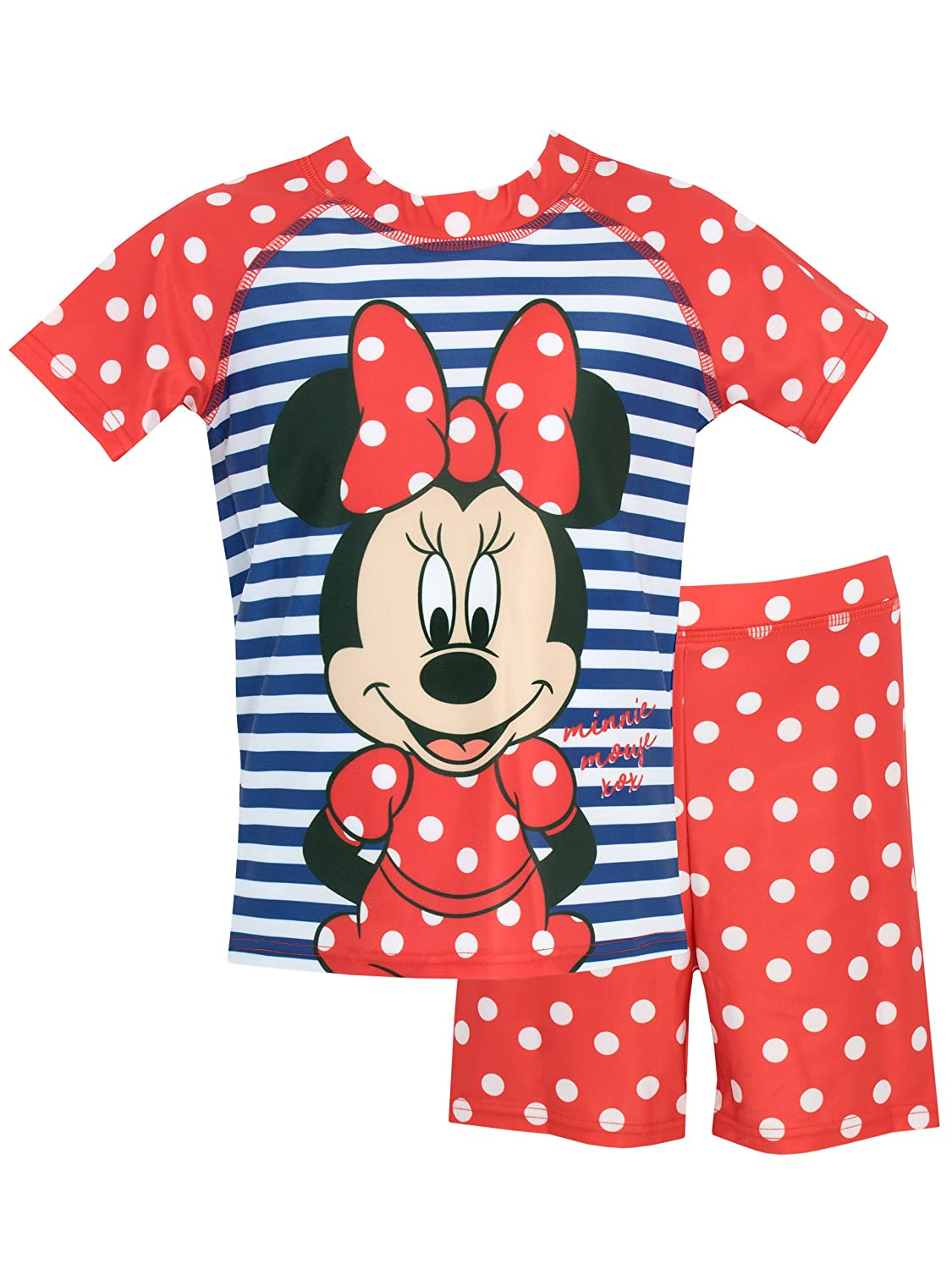 Disney Girls' Minnie Mouse Two Piece Swim Set