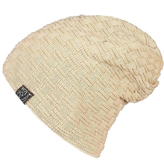 a6b1a9aeb6c2c7 Zando Skullcap Fashion Skill Warm Fleece Hats for Women Men Winter Cute  Comfort Cable Knit Thick