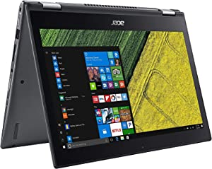"Acer Spin 5 Convertible Laptop, 8th Gen Intel Core i3-8130U, 13.3"" Full HD Touch, 8GB DDR4, 128GB SSD, Windows 10 Professional, SP513-52N-3978"