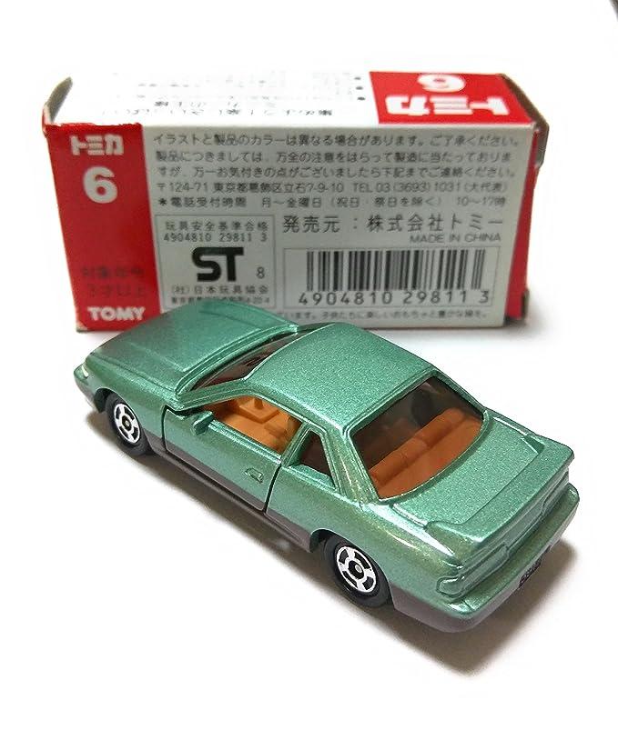 caja roja tomica 6 Nissan Silvia S13 TOMY logotipo rojo de 1/59 verde de dos tonos: Amazon.es: Juguetes y juegos