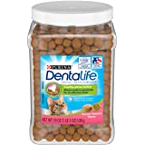 Purina DentaLife Made in USA Facilities Cat Dental Treats, Savory Salmon Flavor - 19 oz. Canister