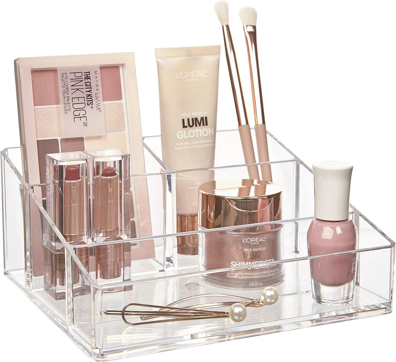 STORi Clear Plastic Vanity Makeup Organizer: Home & Kitchen