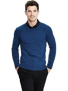 5e471ec2bfa Banana Republic Italian Merino Raglan Crewneck Sweater Color Blue Size Large