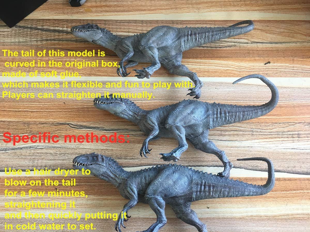 Translucent Bereserker Rex Indominus Dinosaur Model Figure Collector Gift Nanmu