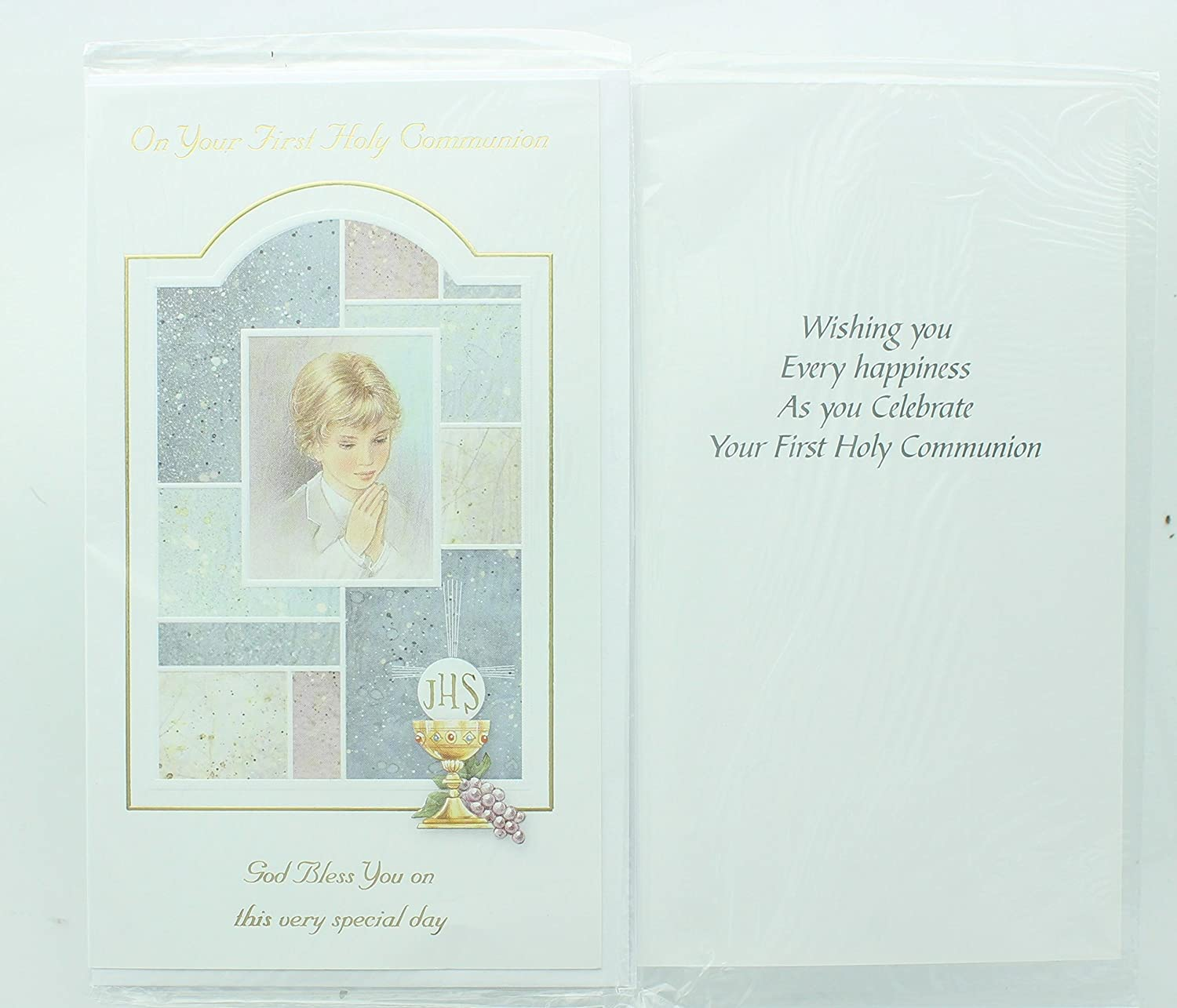 Amazon Boys First Holy Communion Greeting Card Includes