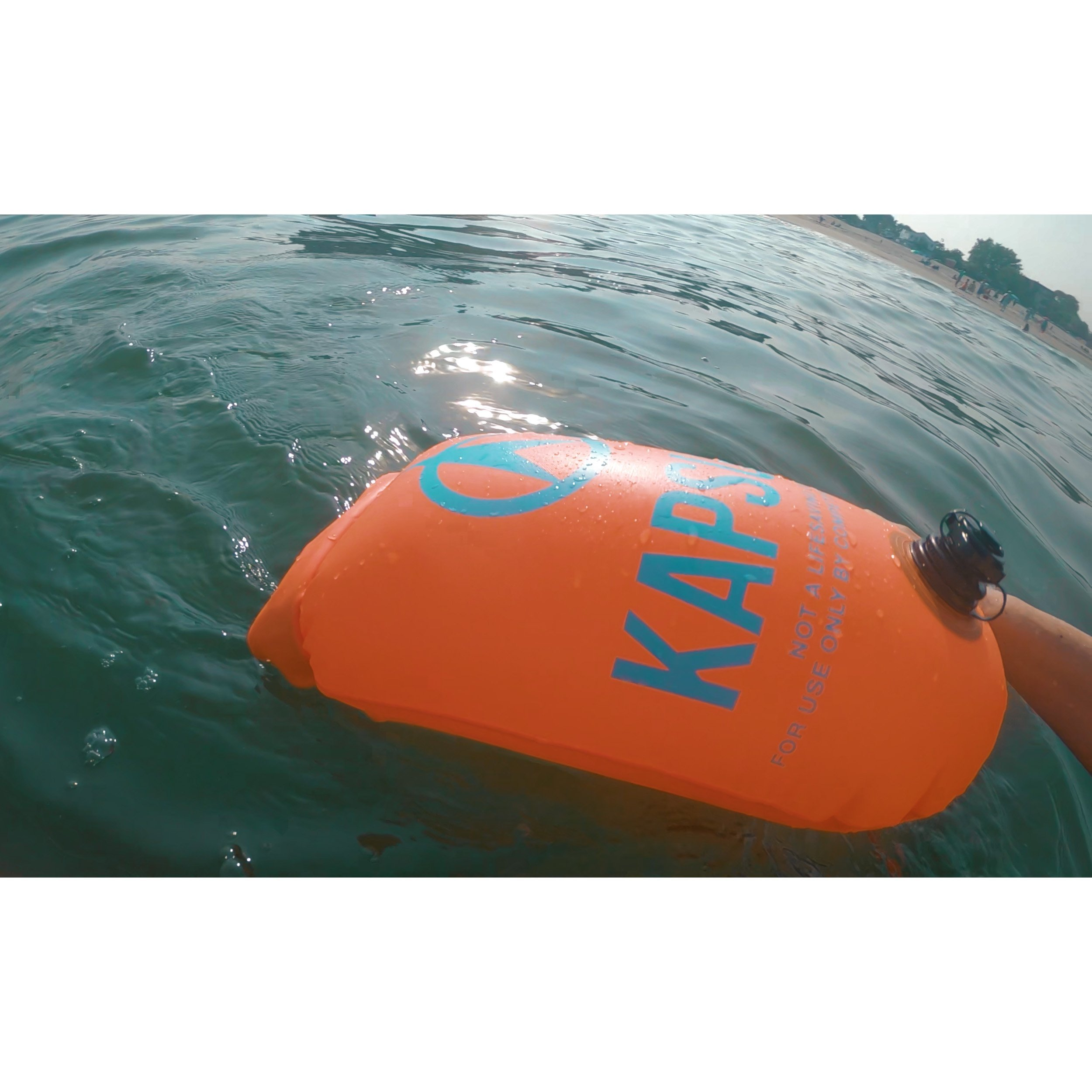 KAPSULE Swim Buoy (NEON 20L Orange) - Personal Swimming Float and Dry Bag by KAPSULE (Image #8)