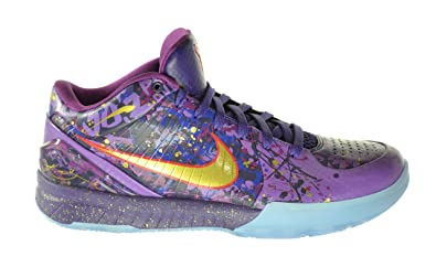 c0b83fbf9117a3 Nike Zoom Kobe IV Prelude Men s Basketball Shoes Court Purple Metallic Gold- Purple Venom