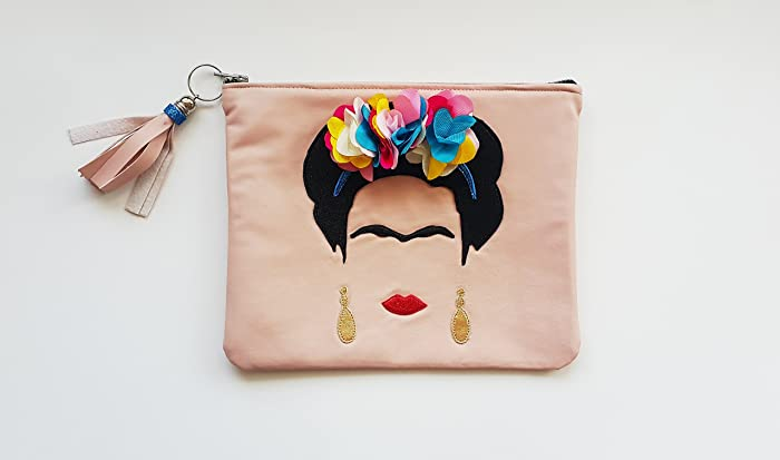 9fb214c3fc Amazon.com: FRIDA Kahlo Vegan Leather Clutch. Small Leather Bag ...