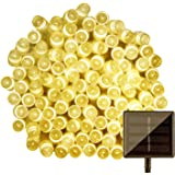 Lamker Led Solar Power Fairy String Lights Outdoor Decorative Light 50 LEDs 6.9 Meters Waterproof with Light Sensor for Garden Home Wedding Party Christmas Halloween Warm White