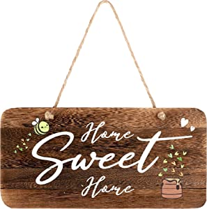 "Rustic Wood Living Room Sign, Home Sweet Home. Real Pallet Wood Sign for Rustic Home Decor, Farmhouse Home Wall Decor with Home Sign. 6""x12"""