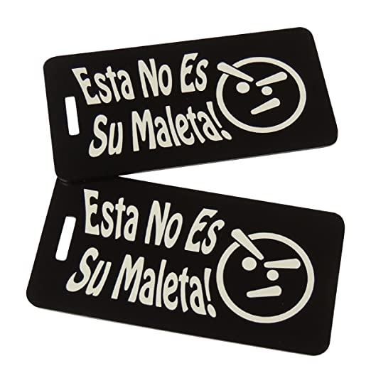 Esta No Es Su Maleta Bag Tag Set of Two (Black)