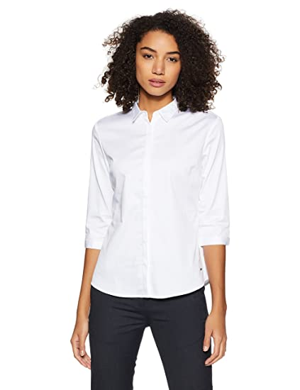 8e8f28b5db4 Van Heusen Woman Plain Regular Fit Shirt (VWSF1S86298 White M ...