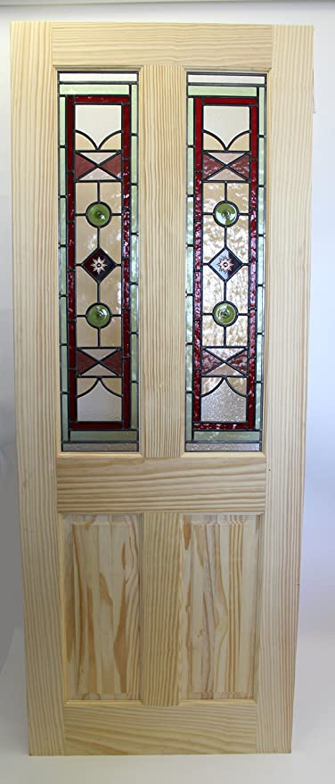 Stained Glass Internal Wood Door Bespoke Victorian Edwardian Style