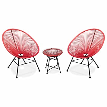 egg designs furniture. Alice\u0027s Garden - 2 Egg Designer String Chairs With Side Table Acapulco Coral Red Designs Furniture