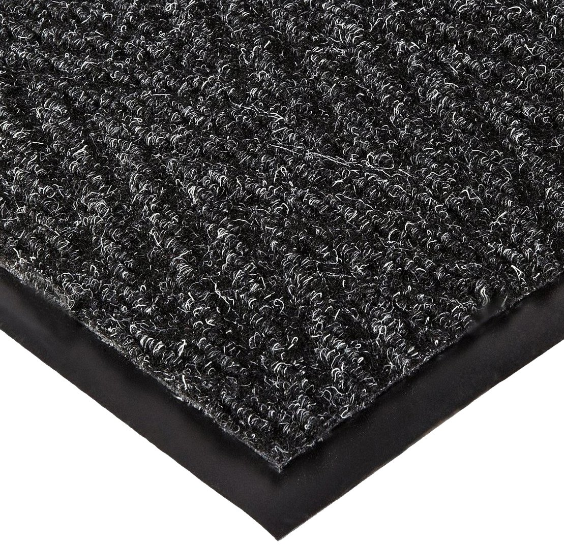 NoTrax 105 Chevron Entrance Mat, for Lobbies and Indoor Entranceways, 4' Width x 8' Length x 5/16'' Thickness, Charcoal