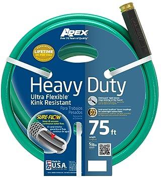 Amazoncom Apex 8509 75 Heavy Duty Kink Resistant Garden Hose 5