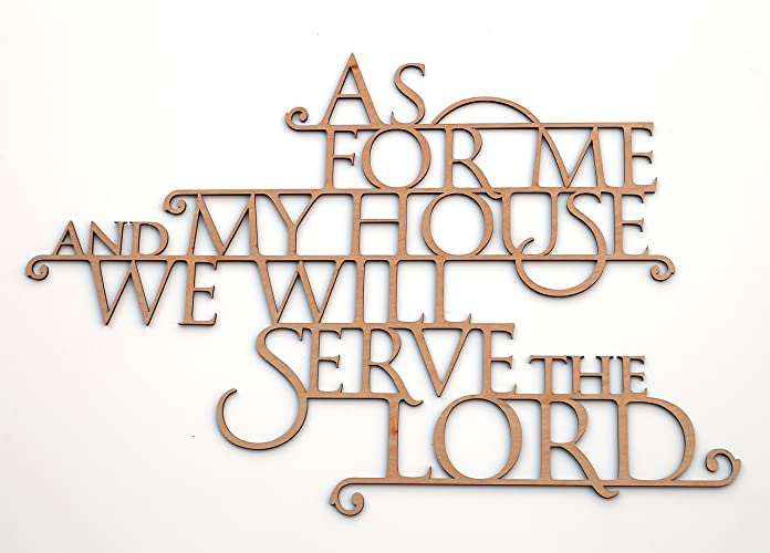 As For Me And My House We Will Serve The Lord   Wooden 3D Wallhanging