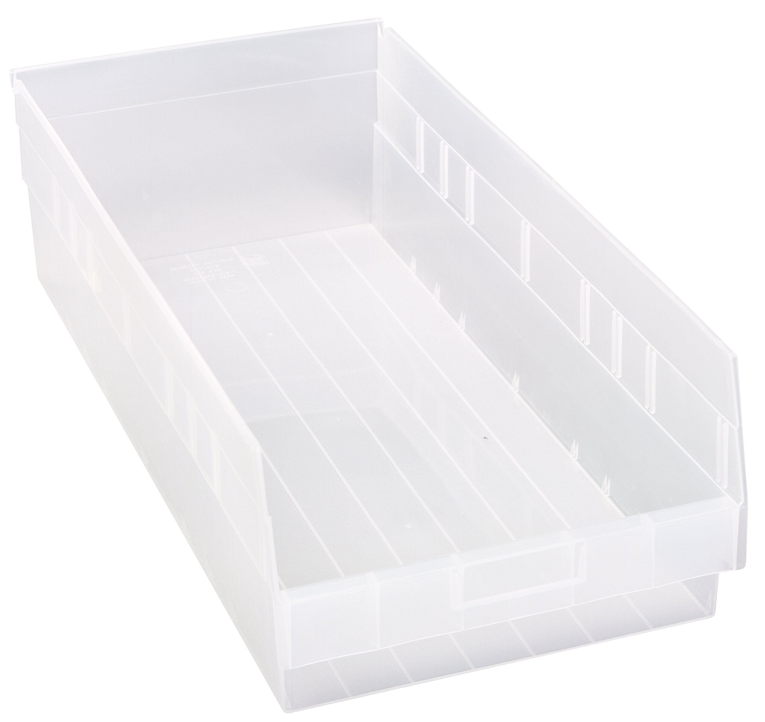 Quantum QSB216CL Store More Shelf Bin, 23-5/8'' Length x 11-1/8'' Width x 6'' Height, Clear, Pack of 6 by Quantum