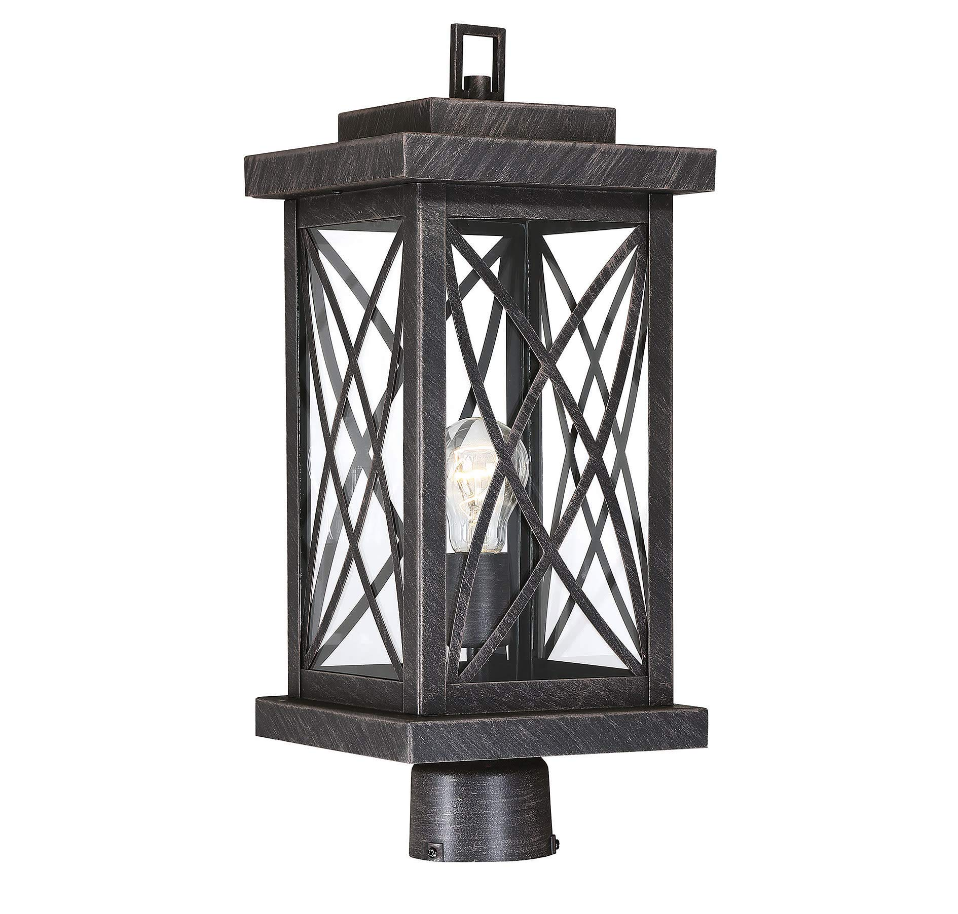 Savoy House 5-704-113 Norwalk - One Light Outdoor Post Lantern, Brushed Bronze Finish with Clear Glass