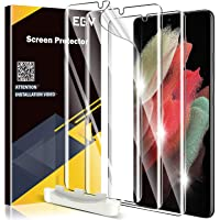 EGV 3 Pack Screen Protector for Samsung Galaxy S21 5G 6.2-inch, Full Coverage, Ultrasonic Fingerprint Compatible Slim…