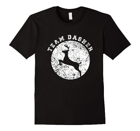 fe98aec7 Amazon.com: Team Dasher Shirt, Funny Cute Reindeer Kids Christmas ...