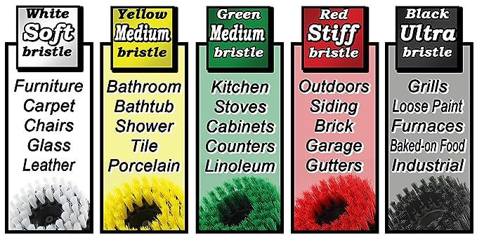 Drillbrush 2 piezas de tamaño mini Black Ultra Stiff es rotatorio de limpieza utilizados para la limpieza de parrillas, hornos, al horno negro ultra-rígido: ...