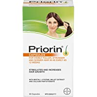 PRIORIN Hair Growth Stimulant, For Women and Men, with Biotin, 60 Count