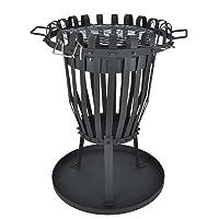 Feuerkorb XXL silber Fire Basket ✔ rund ✔ Grillen mit Holzkohle