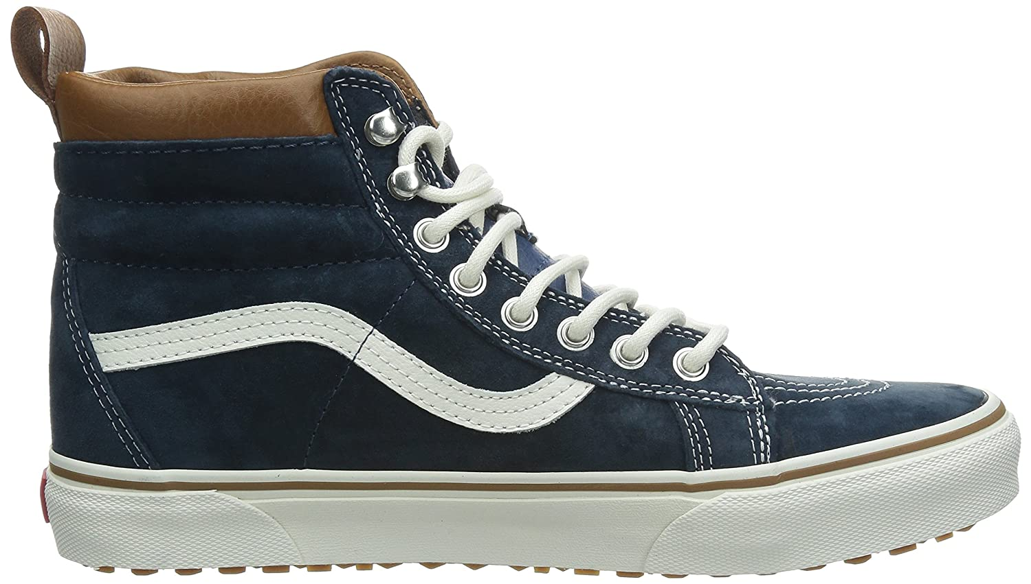 Vans Sk8-Hi Unisex Casual High-Top Skate Shoes, Comfortable and Durable in Signature Waffle Rubber Sole B00HJBUIRS 8.5 M US Women / 7 M US Men|(Mte) Dress Blues