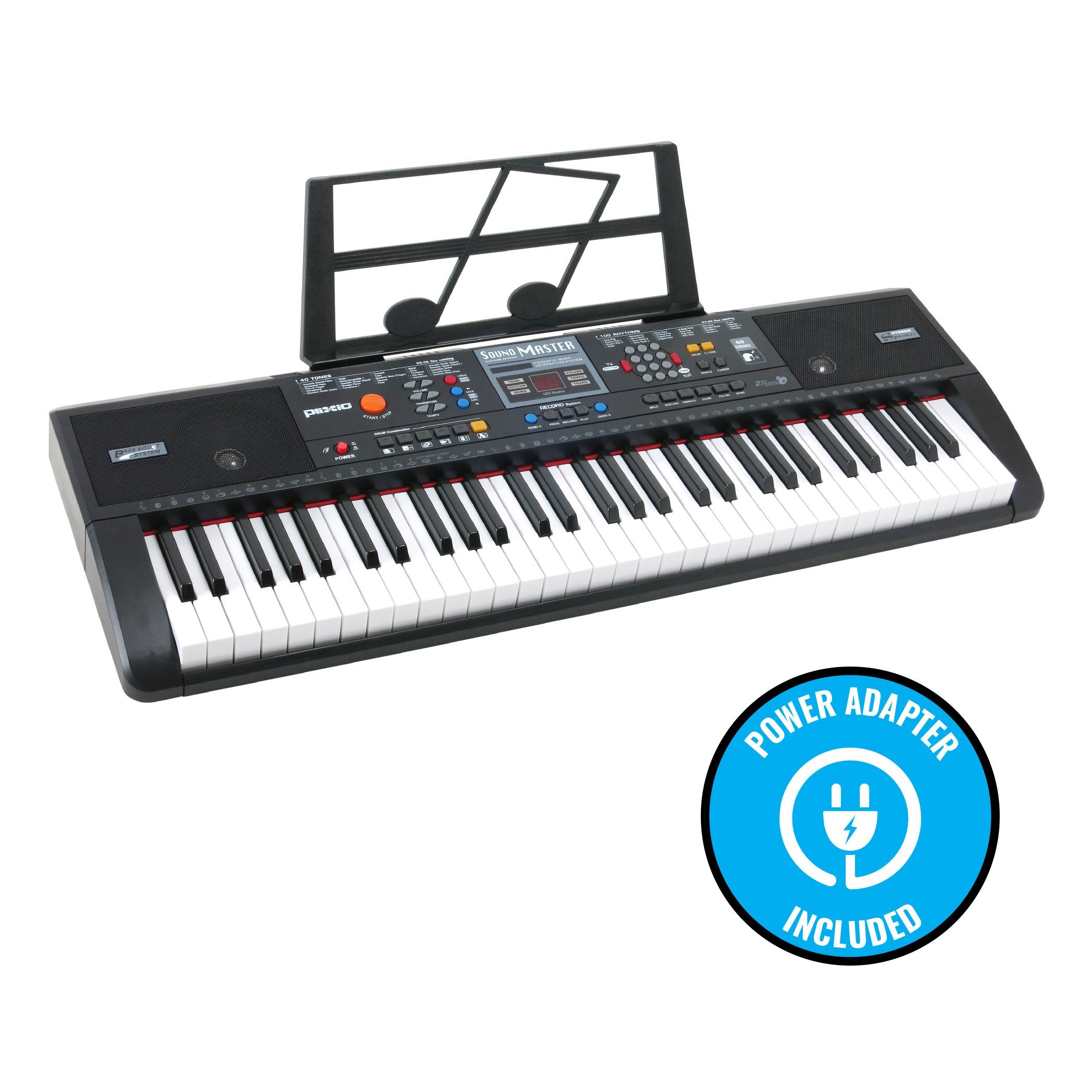 Plixio 61 Key Electronic Music Keyboard Piano and Adjustable Z Style Stand by Plixio (Image #2)