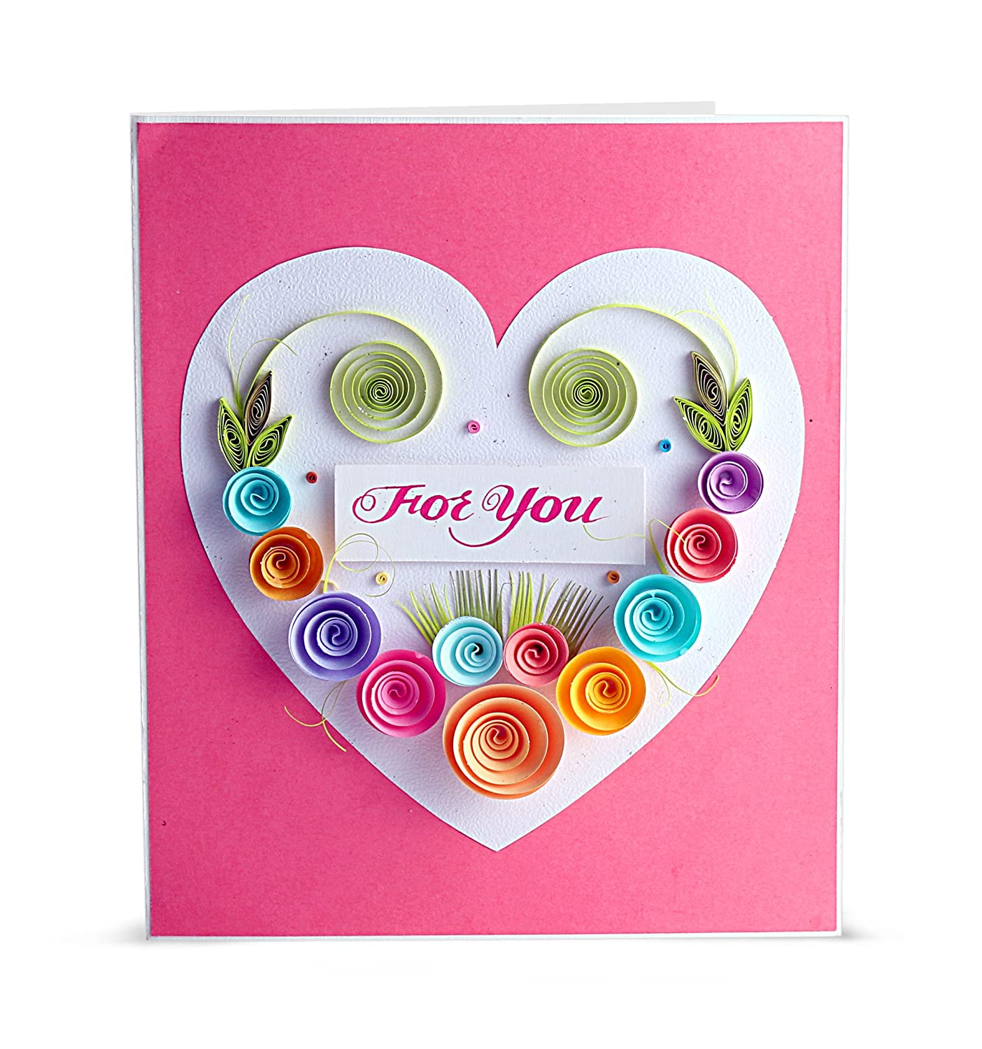 Fantastic Swapnil Arts Handmade 3D Paper Quilling For You Greeting Card Personalised Birthday Cards Cominlily Jamesorg
