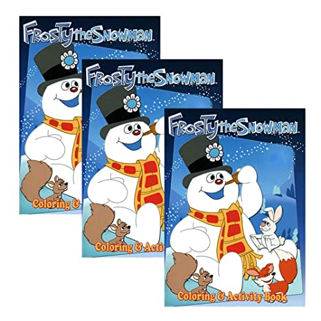 Amazon.com: Set of 3 Frosty the Snowman Coloring and ...