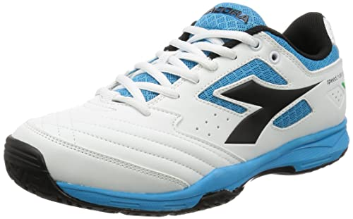 Diadora S.Challenge AG, Scarpe Nero da Tennis Uomo, (Bianco Nero Scarpe Blu Fluo   1e0bc7