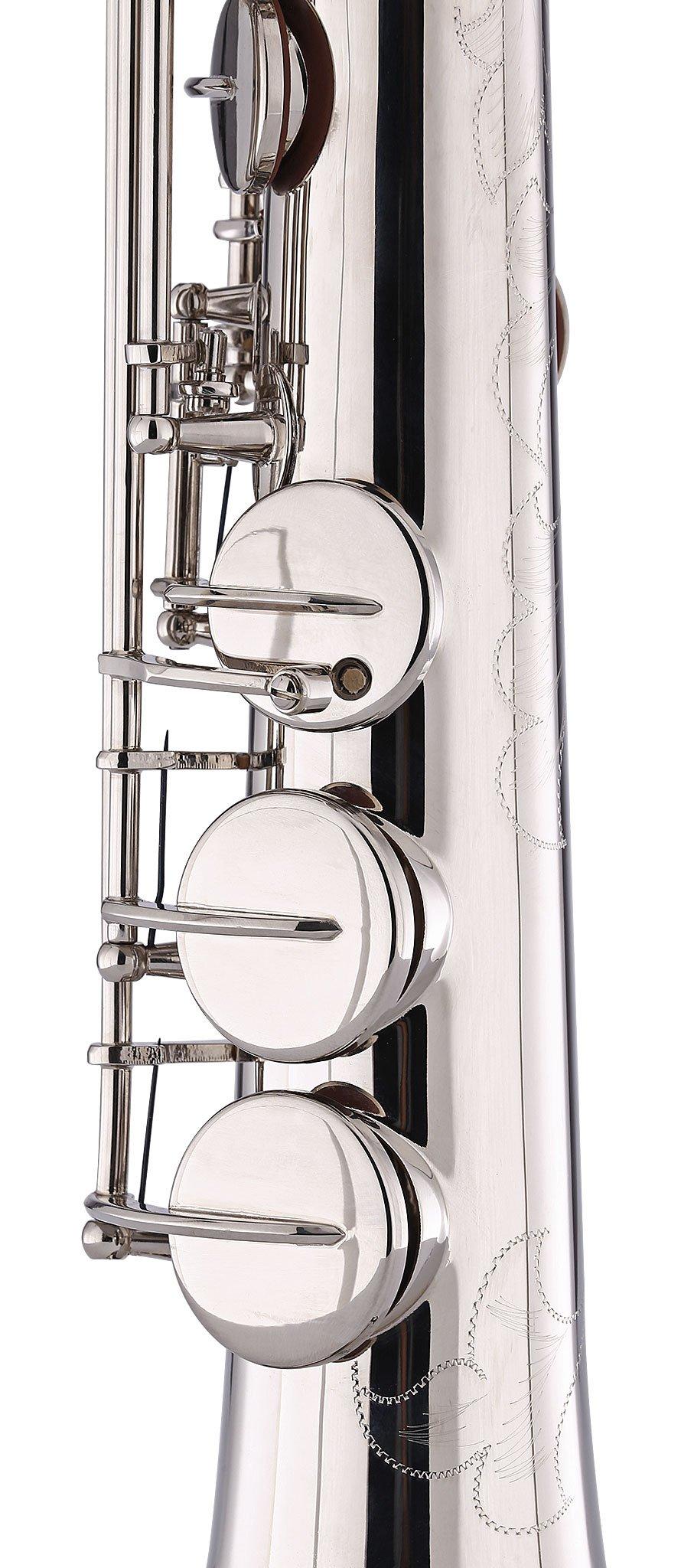 Kaizer Soprano Saxophone Straight B Flat Bb Nickel Silver SSAX-1000NK by Kaizer (Image #5)