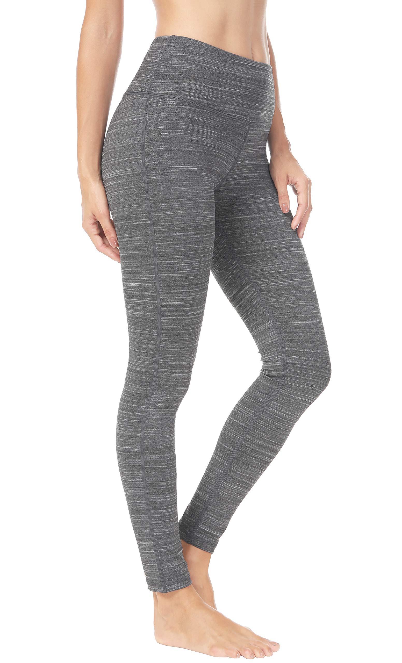 Queenie Ke Women Mid-aist Hidden Pockets Sport Legging Yoga Pants Running Tights Size XS Color Charcoal Grey