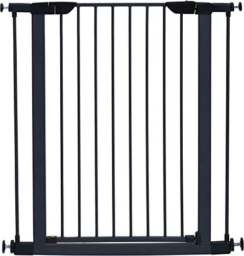 MidWest Homes for Pets Steel Pet Gate Pet Safety Gate 29 39 Tall in Soft White or Textured Graphite