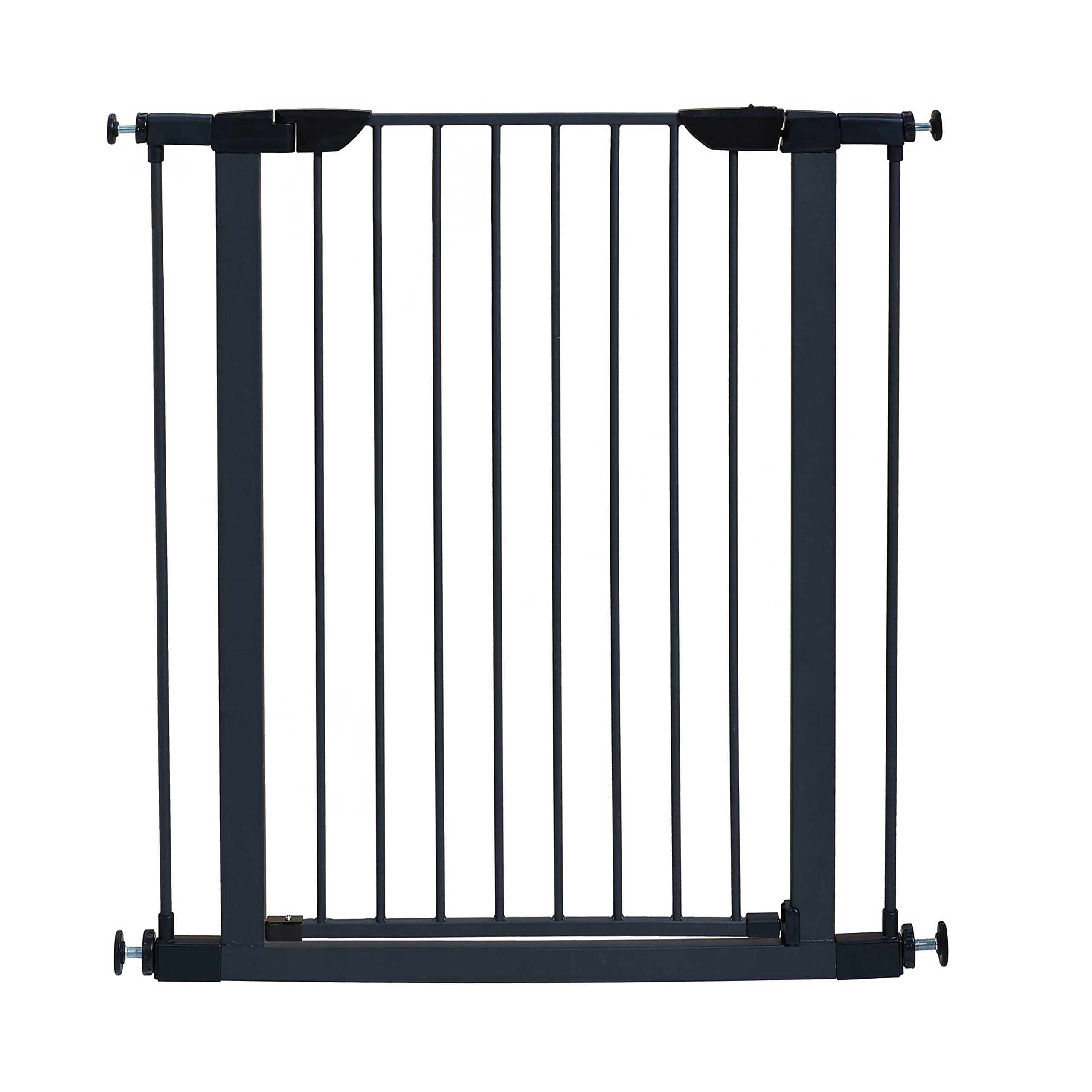 MidWest 39'' High Walk-thru Steel Pet Gate, 29'' - 38'' Wide in Textured Graphite by MidWest Homes for Pets