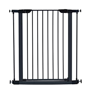 """MidWest Homes for Pets Steel Pet Gate/Pet Safety Gate; 29"""" & 39"""" Tall in Soft White or Textured Graphite"""