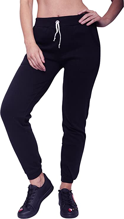 Juicy Trendz Womens Slim Fit Fleece Athletic Joggers Trouser Jogging Sweatpants Bottoms