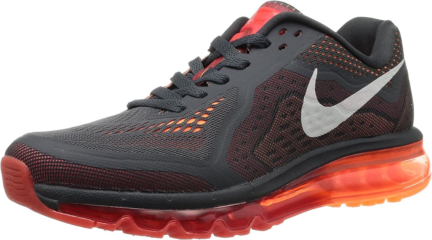Nike Air Max 2014 Mens Style 621077-006 Size 10.5 Anthrct Slate Lt Crimson and Atomic Orange