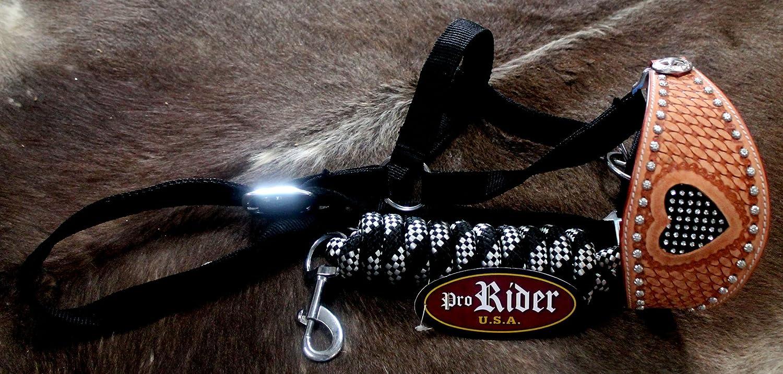 Horse Noseband Tack BroncレザーホルターTiedownリードロープ280260