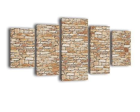 Legno Naturale Chiaro : Tela pietra naturale chiaro lw256 quadro quadro su tela 5 pezzi