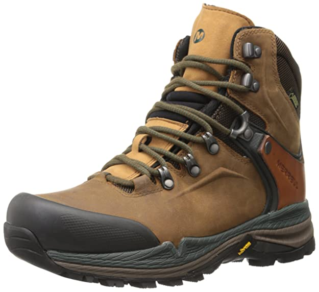 c1ec023fb51 Merrell Crestbound Gore-Tex, Men's Lace-Up High Rise Hiking Shoes - Dorado/Forest  Green, 7 UK: Amazon.co.uk: Shoes & Bags
