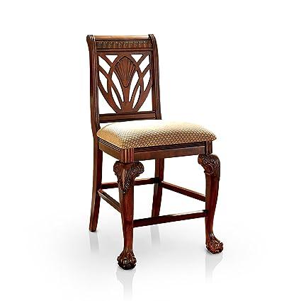Peachy Amazon Com Furniture Of America Bonaventure Traditional Squirreltailoven Fun Painted Chair Ideas Images Squirreltailovenorg