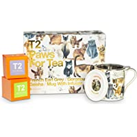 T2 Tea Tea and Teaware Giftpack: Paws for Tea- Cat Pack, Fine Bone China Mug with 2 Loose Leaf Tea in Box, Perfect for…